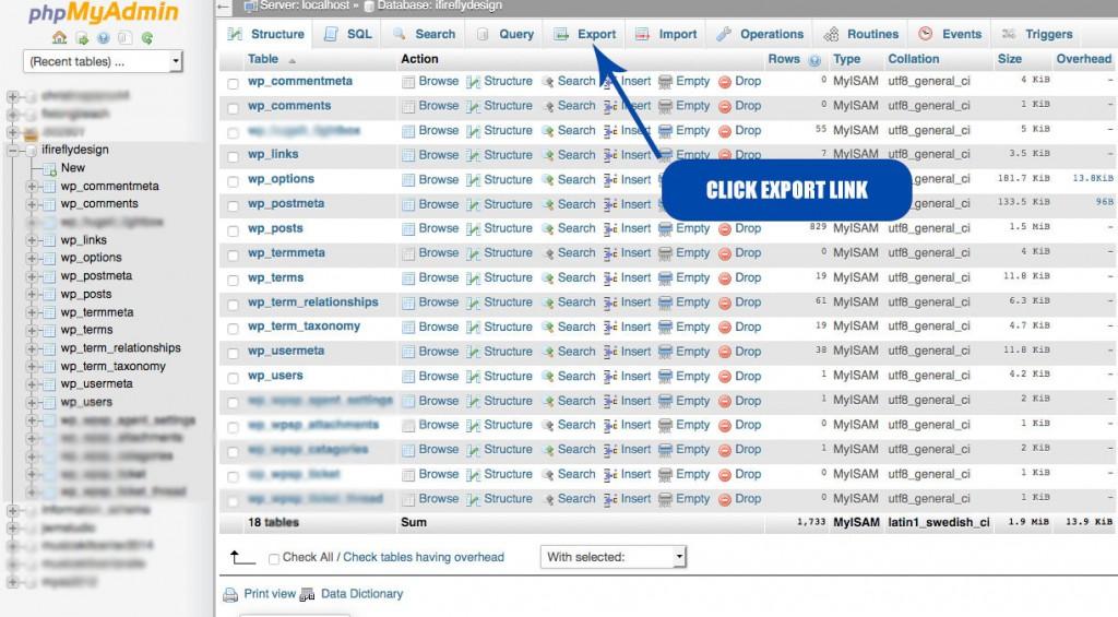 click-export-link